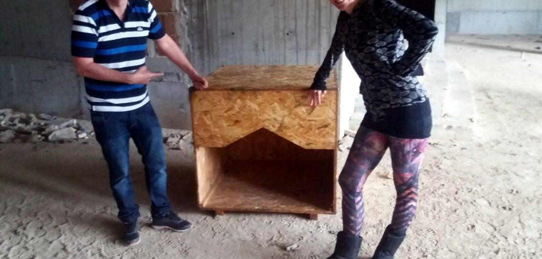 Huge wooden dog kennel